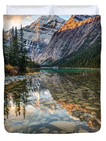 Mount Edith Cavell Sunrise Duvet Cover