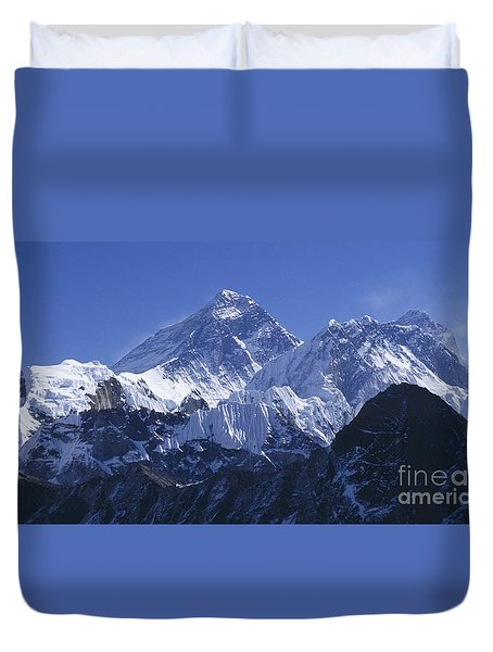 Mount Everest Nepal Duvet Cover by Rudi Prott