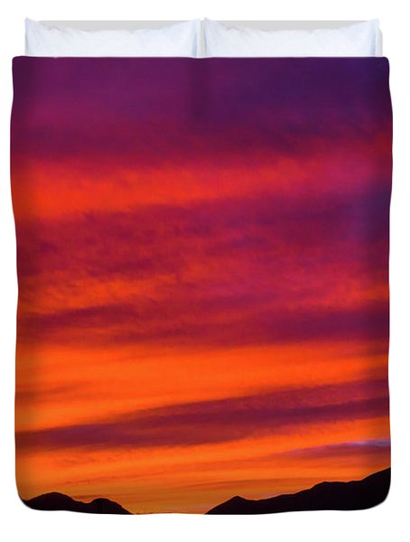 Mount Franklin Purple Sunset Duvet Cover