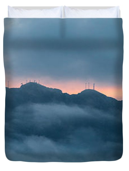 Mount Franklin Stormy Winter Sunset Pano Duvet Cover