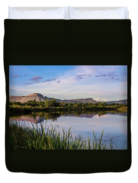 Duvet Cover featuring the photograph Mount Garfield In The Evening Light by Nadja Rider