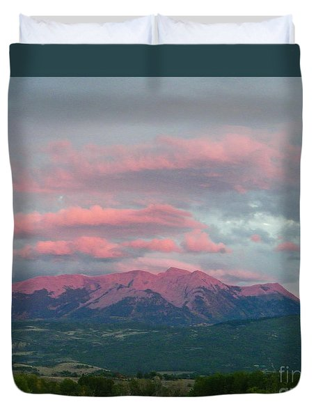Mount Gunnison Sunset In Colorado Duvet Cover