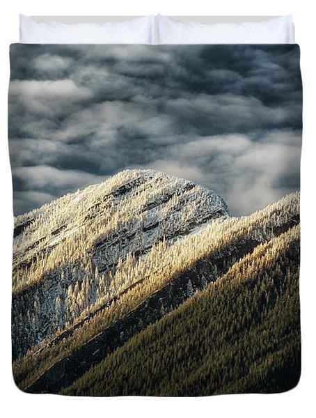Mount Higgins Clouds Duvet Cover
