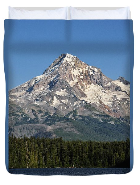 Mount Hood Above Lost Lake Duvet Cover
