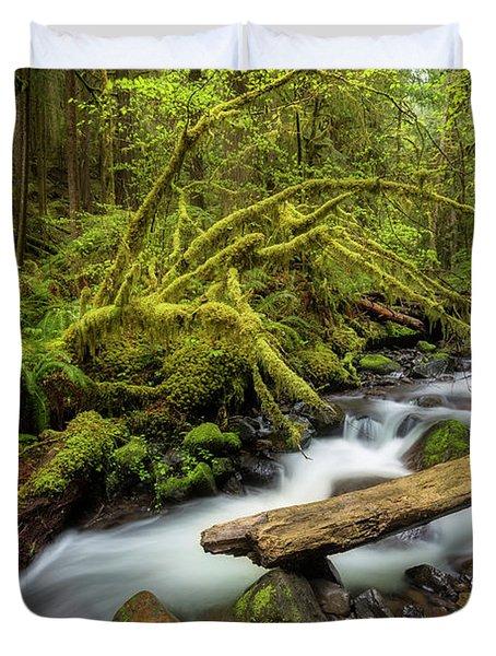 Mount Hood Creek Duvet Cover