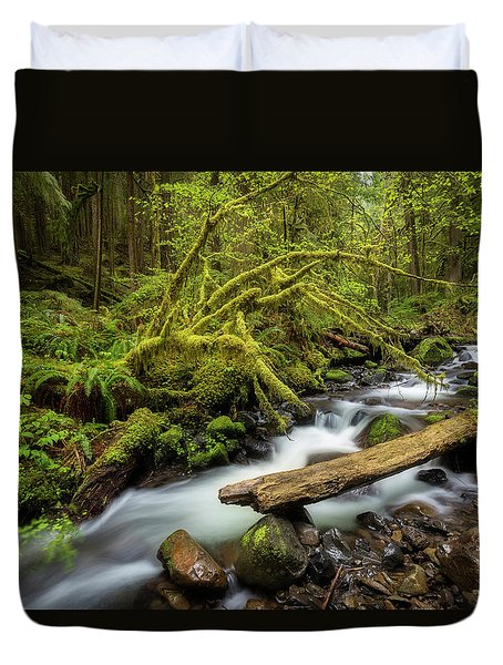 Mount Hood Creek Duvet Cover