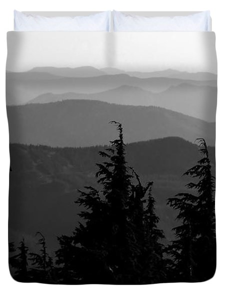 Mount Hood National Forest Duvet Cover