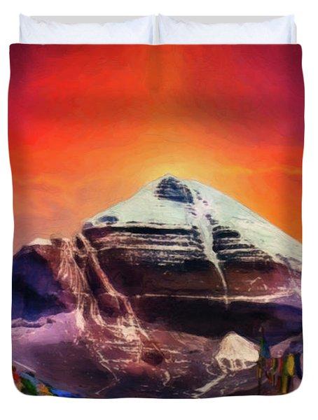 Mount Kailash - The Pillar Of The World Duvet Cover