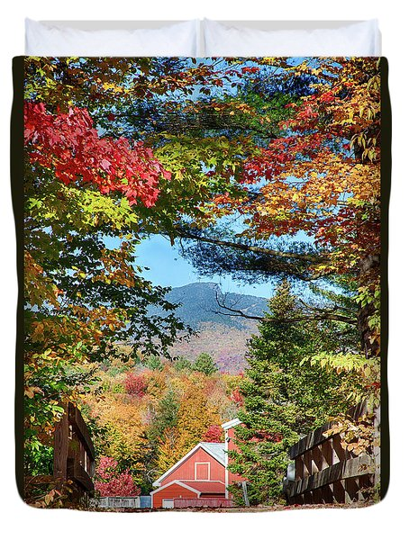 Duvet Cover featuring the photograph Mount Mansfield Seen Through Fall Foliage by Jeff Folger