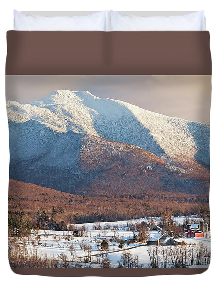 Mount Mansfield Winter Afternoon Duvet Cover