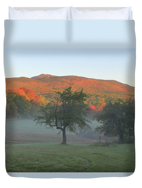 Mount Monadnock Autumn Morning Duvet Cover