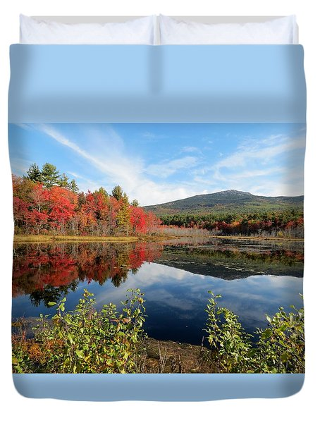 Mount Monadnock Autumn Duvet Cover by MTBobbins Photography