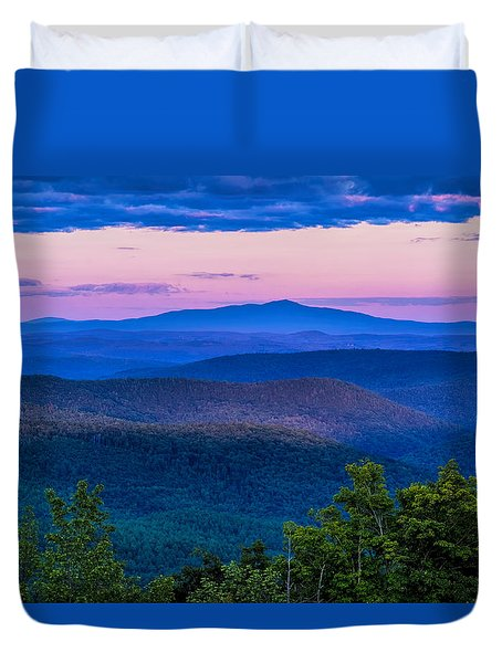 Duvet Cover featuring the photograph Mount Monadnock From Vermont by Tom Singleton