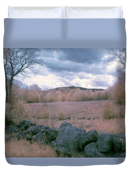 Mount Monadnock In Infrared Duvet Cover by Tom Singleton