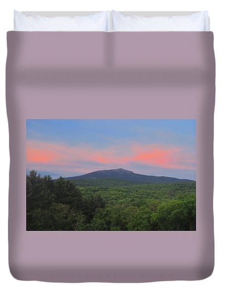 Mount Monadnock Spring Sunset Duvet Cover