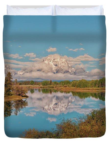 Mount Moran On Oxbow Bend Duvet Cover