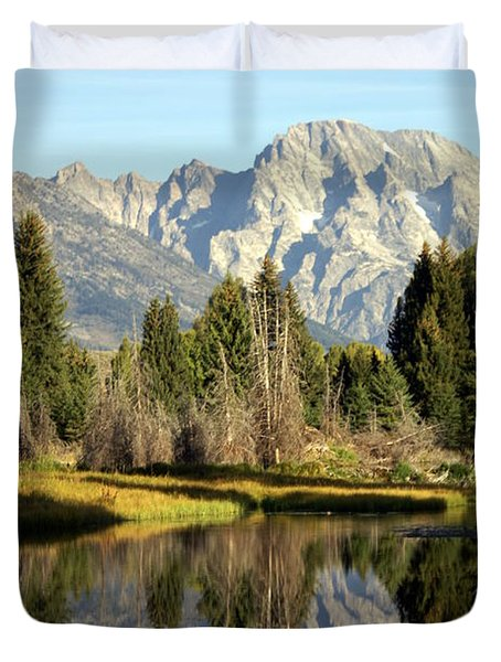 Mount Moran Reflections Duvet Cover by Marty Koch