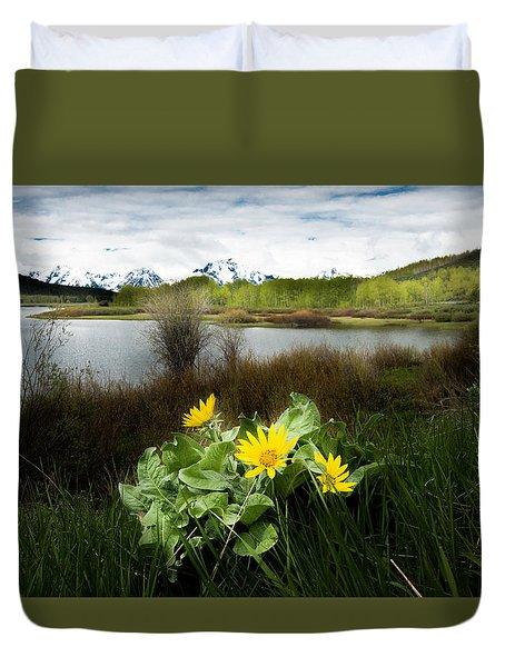 Mount Moran Spring Duvet Cover