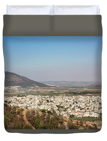 Duvet Cover featuring the photograph Mount Of Ascension by Mae Wertz