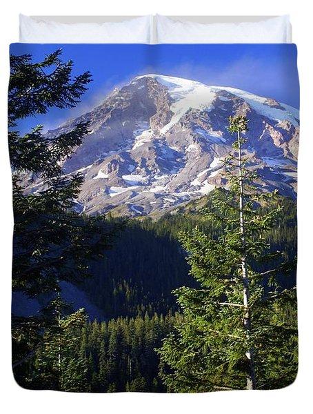 Mount Raineer 1 Duvet Cover by Marty Koch