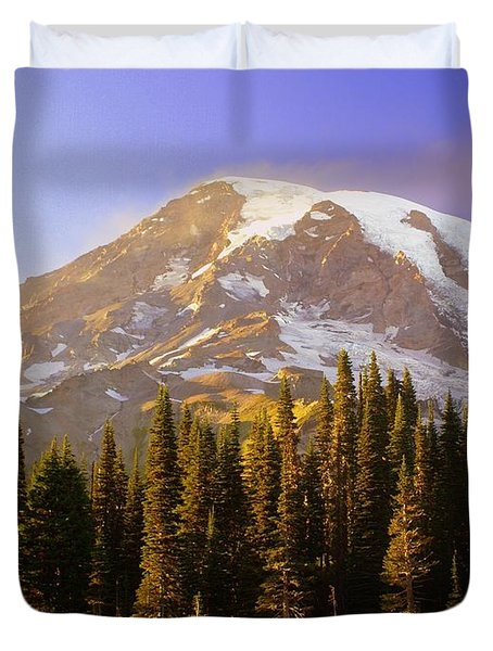 Mount Raineer 2 Duvet Cover by Marty Koch