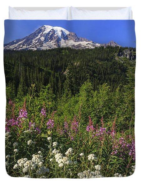 Mount Rainier Duvet Cover by Adam Romanowicz