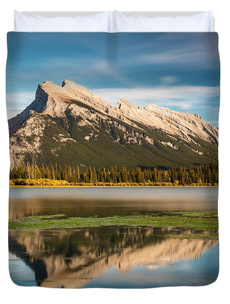 Mount Rundle Banff Duvet Cover