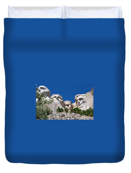 Mount Rushmore Close Up View Duvet Cover