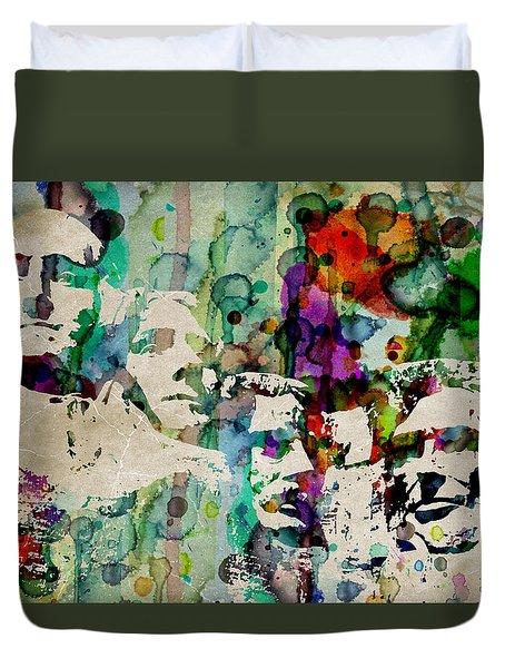 Mount Rushmore Watercolor Presiden Duvet Cover
