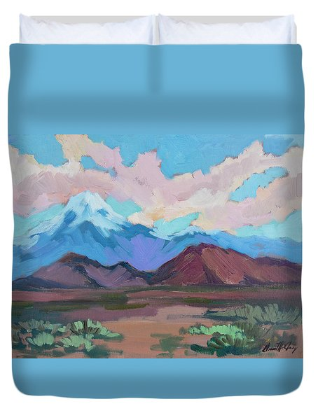 Duvet Cover featuring the painting Mount San Gorgonio by Diane McClary