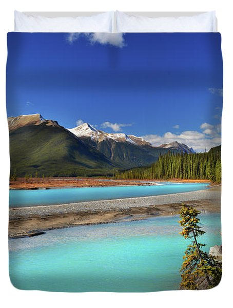 Mount Saskatchewan Duvet Cover by John Poon