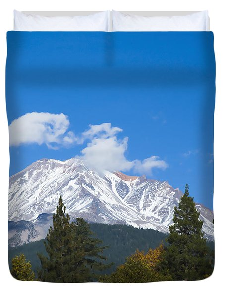 Mount Shasta California Duvet Cover