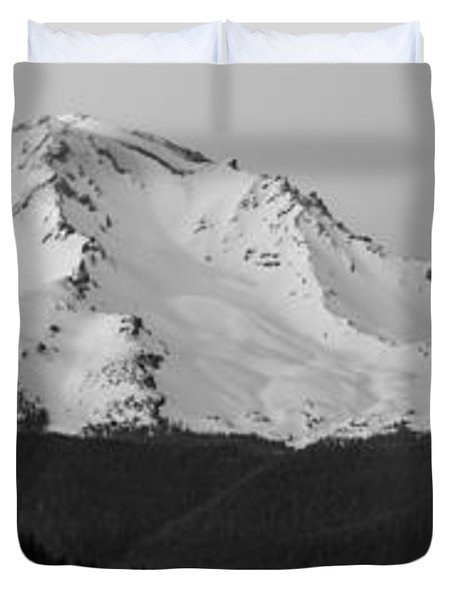 Mount Shasta  Duvet Cover