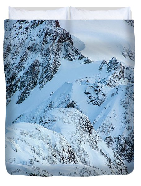 Mount Shuksan Details Duvet Cover
