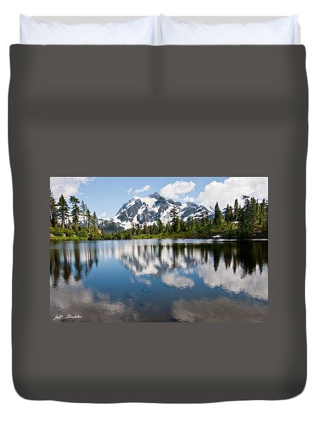 Mount Shuksan Reflected In Picture Lake Duvet Cover
