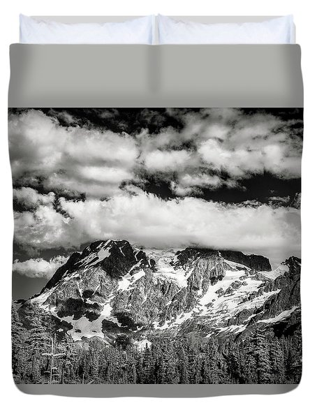 Duvet Cover featuring the photograph Mount Shuksan Under Clouds by Jon Glaser