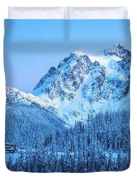Mount Shuksan Winter Tranquility Duvet Cover