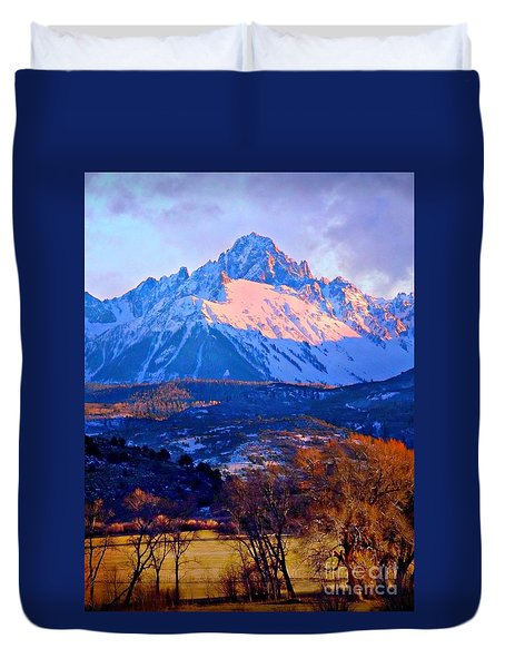 Mount Sneffels  Duvet Cover by Annie Gibbons