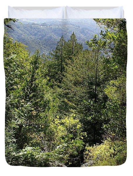 Mount Tamalpais Forest View Duvet Cover