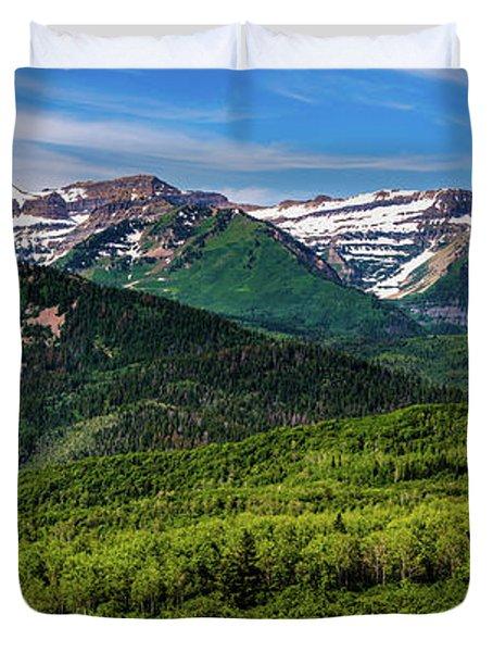 Mount Timpanogos Panorama - Wasatch Mountains - Utah Duvet Cover