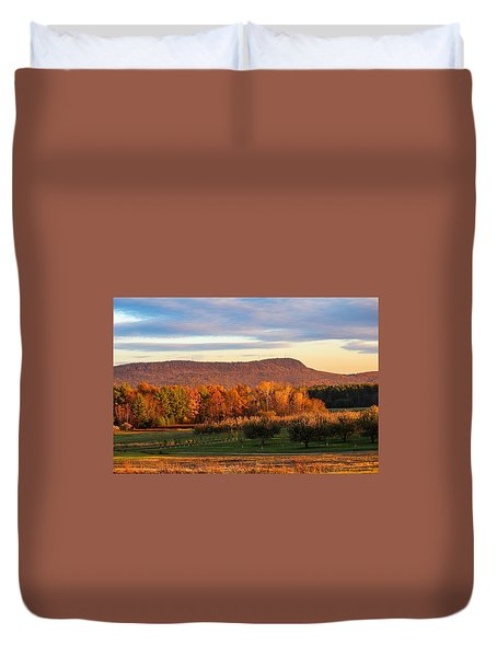 Mount Tom Foliage View Duvet Cover