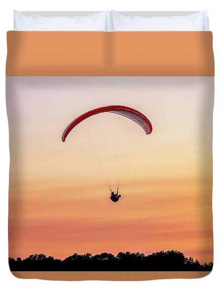 Mount Tom Parachute Duvet Cover