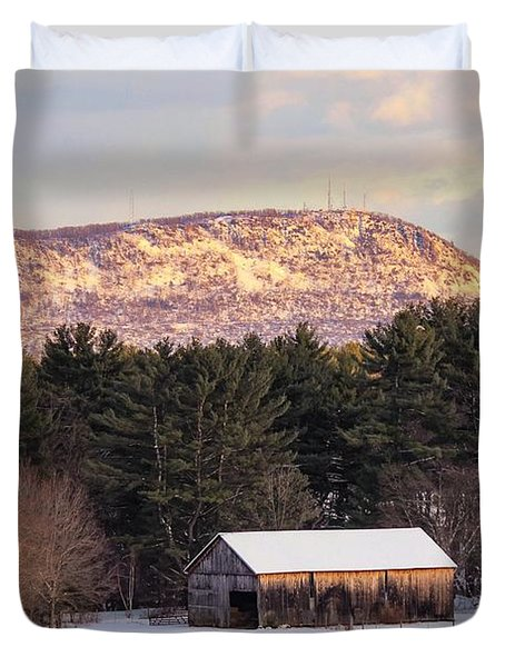Mount Tom View From Southampton Duvet Cover