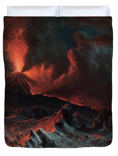 Mount Vesuvius At Midnight Duvet Cover