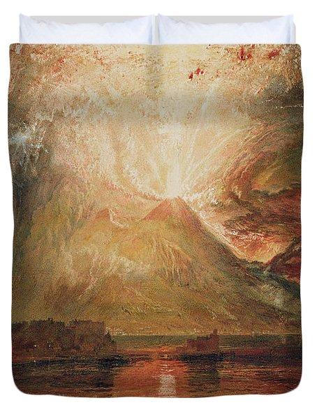 Mount Vesuvius In Eruption Duvet Cover