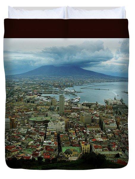 Mount Vesuvius Naples It Duvet Cover