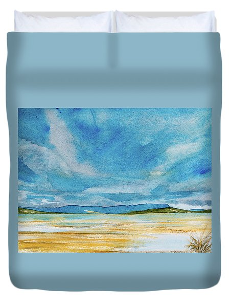 View Of Mount Wellington From South Bruny Island Duvet Cover