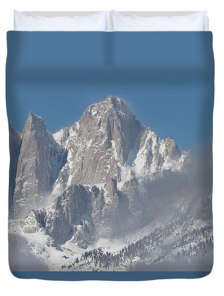 Mount Whitney In March Duvet Cover