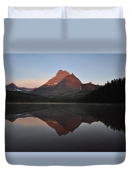 Mount Wilbur, Glacier National Park Duvet Cover