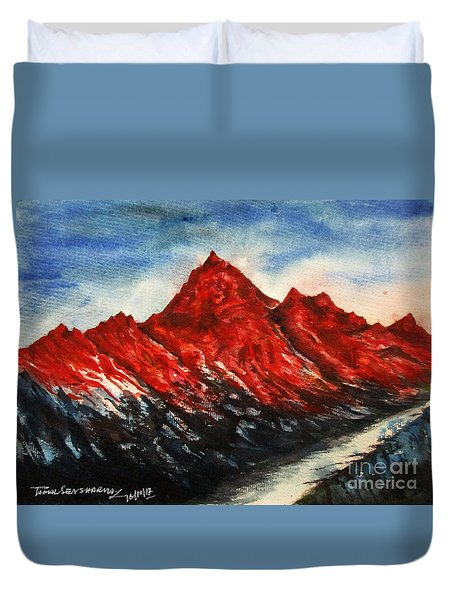 Mountain-7 Duvet Cover